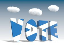 Vote de l'Ecosse pour l'indépendance Images stock