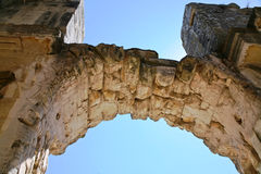 Voûte de temple antique de Diane à Nîmes Photo libre de droits