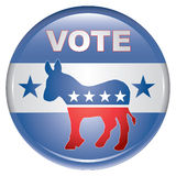 Vote Democrat Button Stock Photo