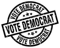 vote democrat stamp royalty free stock images