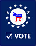 Vote Democrat Placard Stock Images
