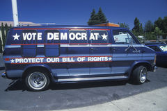 Vote Democrat - Protect our Bill of Rights sign Royalty Free Stock Image