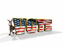 Vote Democratic Royalty Free Stock Photos