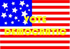 Vote Democratic Royalty Free Stock Photography