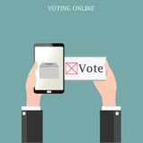 Vote design conceptual vector illustration. Voting online design with Ballot boxes, conceptual vector illustration Royalty Free Stock Photography