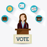 Vote design. Royalty Free Stock Photography