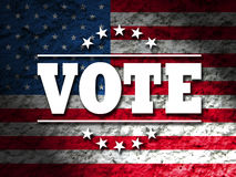 Vote design for Presidential Election USA, Vote sign with american flag. Grunge style background Stock Photography