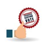 Vote el diseño sobre el fondo blanco, ejemplo del vector Fotografía de archivo