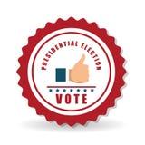 Vote el diseño sobre el fondo blanco, ejemplo del vector Imagen de archivo libre de regalías
