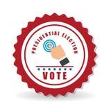 Vote el diseño sobre el fondo blanco, ejemplo del vector Imágenes de archivo libres de regalías