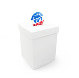 Vote election badge button for 2016. 3d Illustrations on a white background vector illustration