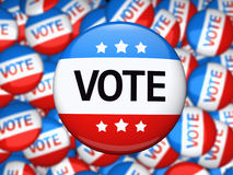 Vote election campaign badge. Vote election campaign glossy badge Royalty Free Stock Photography