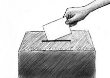Vote. Election concept. Hand drawn illustration royalty free illustration
