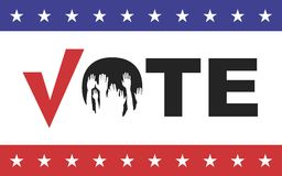 Vote. Election day campaign vote. Your vote counts. Vector format Royalty Free Stock Image