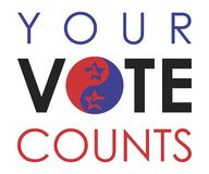Vote. Election day campaign vote. Your vote counts. Vector format Royalty Free Stock Images