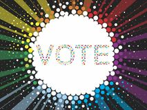 Vote. Election day campaign vote. Your vote counts. Vector format Stock Photography