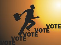 Vote. Election day campaign vote. Your vote counts. Vector format Royalty Free Stock Photo