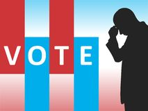 Vote. Election day campaign vote. Your vote counts. Vector format Royalty Free Stock Photos