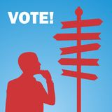Vote. Election day campaign vote. Your vote counts. Vector format Stock Images