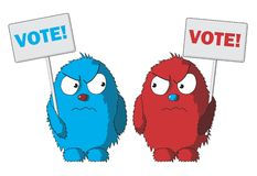 Vote. Election day campaign vote. Your vote counts. Vector format Stock Photo