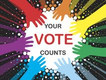 Vote. Election day campaign vote. Your vote counts. Vector format Stock Image