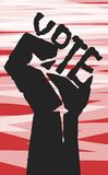 Vote. Election day campaign vote. Your vote counts. Vector format royalty free illustration