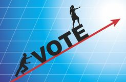 Vote. Election day campaign vote. Your vote counts. Vector format Stock Photos