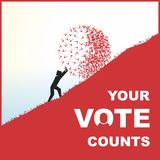 Vote. Election day campaign vote. Your vote counts. Vector format Royalty Free Stock Photography