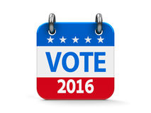 Vote election 2016 icon calendar Stock Photography