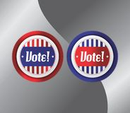 Vote and election label theme Stock Photos
