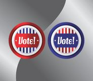 Vote and election label theme Royalty Free Stock Photos