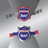 Vote and election label theme Royalty Free Stock Image