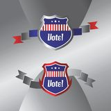 Vote and election label theme Stock Photo