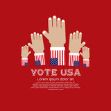 Vote For Election. Vote For Election U.S.A. Vector Illustration Concept.EPS10 Stock Image