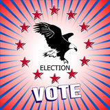 Vote election Vector illustration. Vote Badge vector illustration
