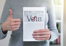 Vote in elections Royalty Free Stock Photos