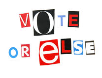 Vote or else Royalty Free Stock Image