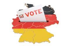 Vote em Alemanha, conceito alemão da eleição, rendição 3D Fotos de Stock Royalty Free