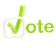Vote emblem symbol isolated on white Royalty Free Stock Photo