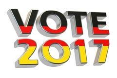 Vote 2017 en Allemagne Le concept fédéral allemand d'élection, 3D rendent Photographie stock libre de droits
