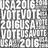 Vote Etats-Unis 2016 Photo stock
