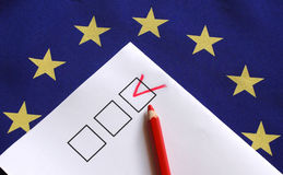 Vote for Europe. Vote, Europe, eu election, voting Stock Photo