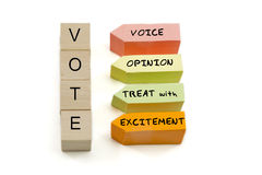 VOTE excitement blocks Royalty Free Stock Image