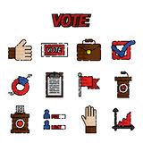 Vote flat icons set Royalty Free Stock Images
