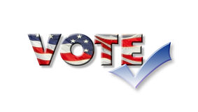 Vote Graphic with Checkmark Stock Photos