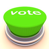 Vote green button. A green button with label vote, voting, survey or democratic concept image royalty free illustration