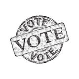 Vote grunge rubber stamp. Black grunge rubber stamp with the word vote written inside the stamp Royalty Free Stock Image