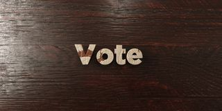 Vote - grungy wooden headline on Maple  - 3D rendered royalty free stock image. This image can be used for an online website banner ad or a print postcard Royalty Free Stock Photos
