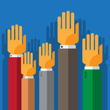 Vote hand up Stock Images