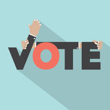 Vote With Hands Typography Design Royalty Free Stock Photography